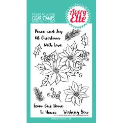 "106329 Avery Elle Clear Stamp Set Holiday Bouquet 4""X6"""