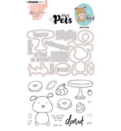 KJ-MBKJ-SCD10 KJ Stamp & Cutting Die, Complete Pets Cat Missees nr.10