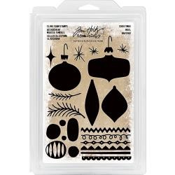 219311 Idea-Ology Cling Foam Stamps Christmas Ornaments 24/Pkg