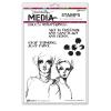 "568486 Dina Wakley Media Cling Stamps Soul Whisperings 6""X9"""