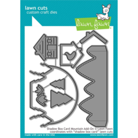 LF2055 Lawn Cuts Custom Craft Die Shadow Box Card Mountain Add-On