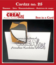 115634/5125 Crealies Cardzz Doosje in een kaart CLCZ25 fits in most cardsizes
