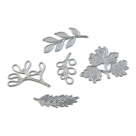 EC1846 Elizabeth Craft Metal Die Leaves & Branches