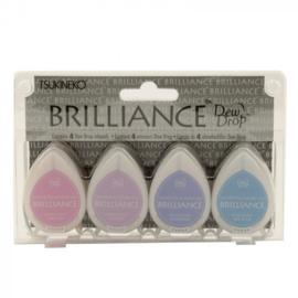 BD-100-002 Brilliance dew drop ink pad x4 set jewel tone