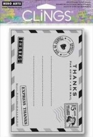 HA-CG519 Hero Arts Cling Stamps Thanks Postcard