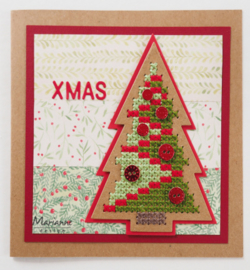 CR1481 craftables Cross Stitch Christmas Tree