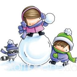 257117 Stamping Bella Cling Stamps Snow Fight