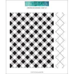 "590412 Concord & 9th Clear Stamps Gingham Background 6""X6"""