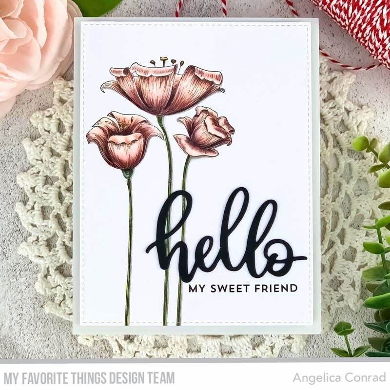 BG-119 My Favorite Things Fine-Lined Floral Rubber Stamp