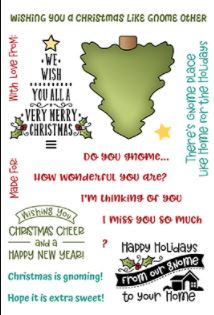 LDRSPD225 LDRS Creative Holiday Gnomes Sentiments Set 4x6 Inch Clear Stamps