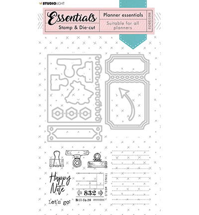 BASICSDC52 Studio Light Stamp & Die-cut Essentials  nr.52