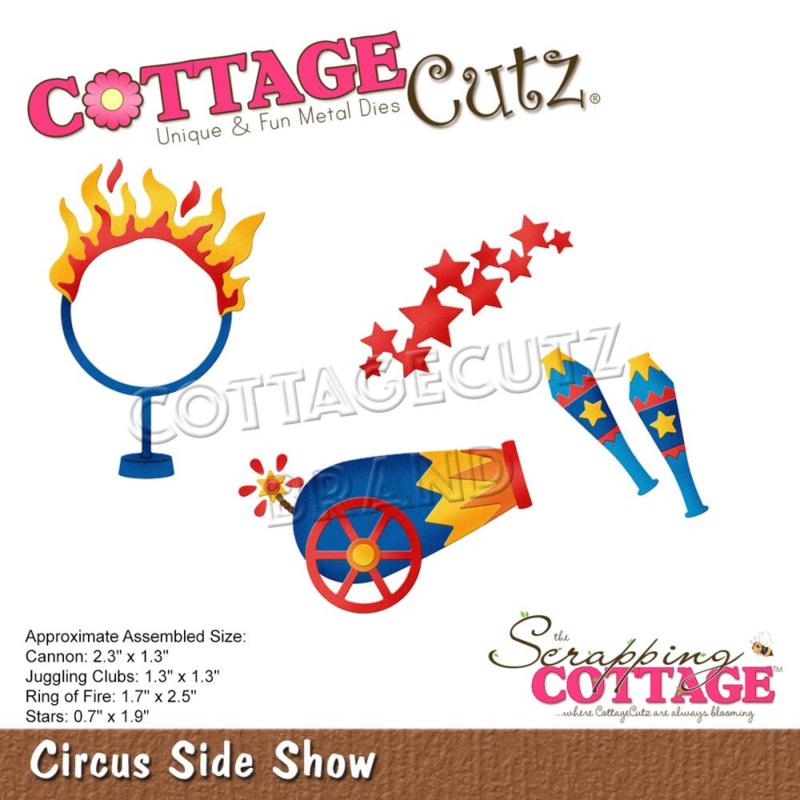 "CC857 CottageCutz Dies Circus Side Show .7"" To 2.5"""