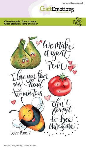 130501/1505 CraftEmotions clearstamps A6 - Love Puns 2 Carla Creaties