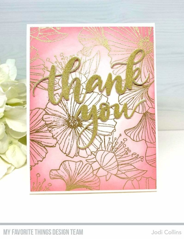 BG-123 My Favorite Things Loosely Lined Flowers Background Stamp