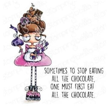 EB966 Stamping Bella Cling Stamps Oddball With A Sweet Tooth