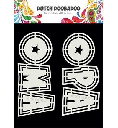 470.713.807 Dutch DooBaDoo Card Art Opa en Oma 2 set