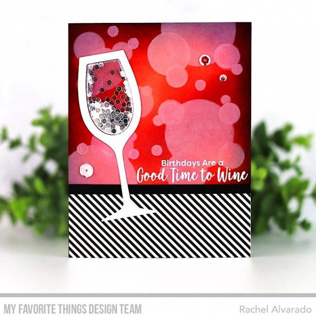 CS-358 My Favorite Things Good Time to Wine Clear Stamps