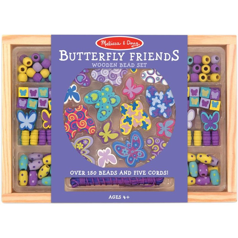 207229 Houten Kralen set Butterfly Friends