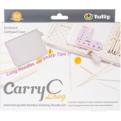 072978 Carry C Interchangeable Bamboo Knitting Needle Long Set