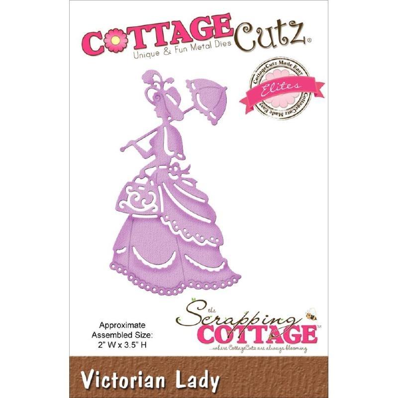 """423168 CottageCutz Elites Die Victorian Lady, 2""""X3.5"""""""