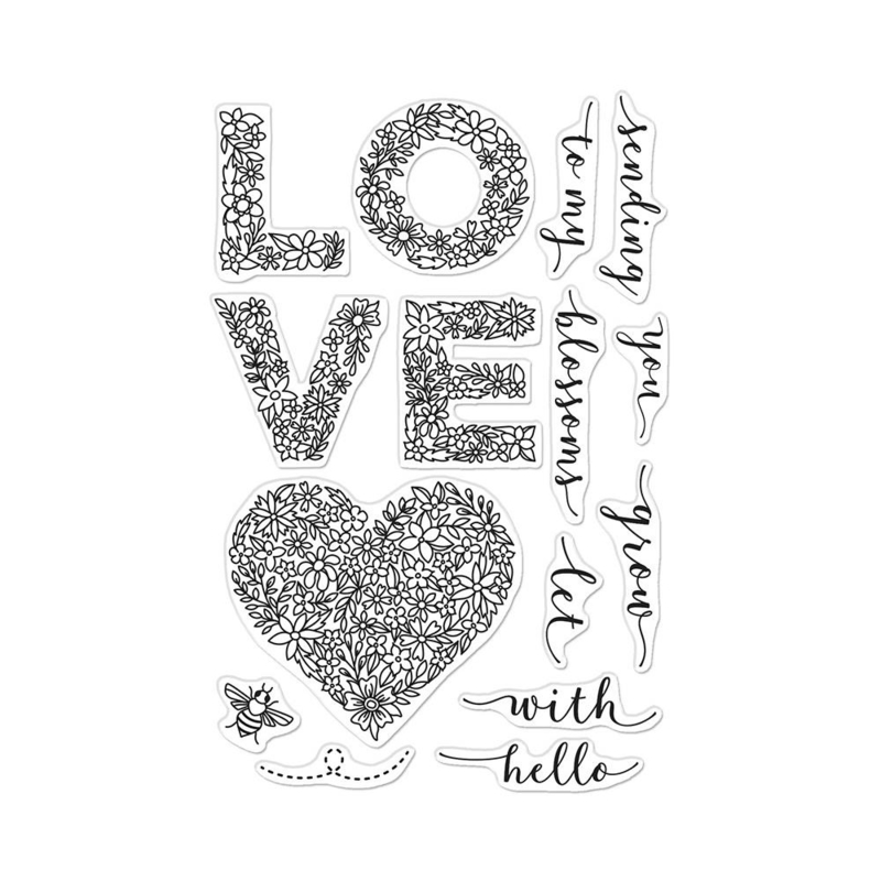 """647524 Hero Arts Clear Stamps Floral Love 4""""X6"""""""