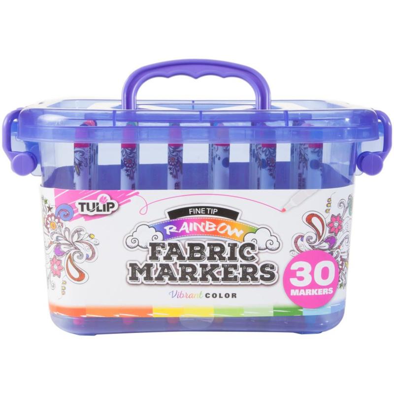430350 Tulip Fine Tip Markers W/Storage Tub 30/Pkg