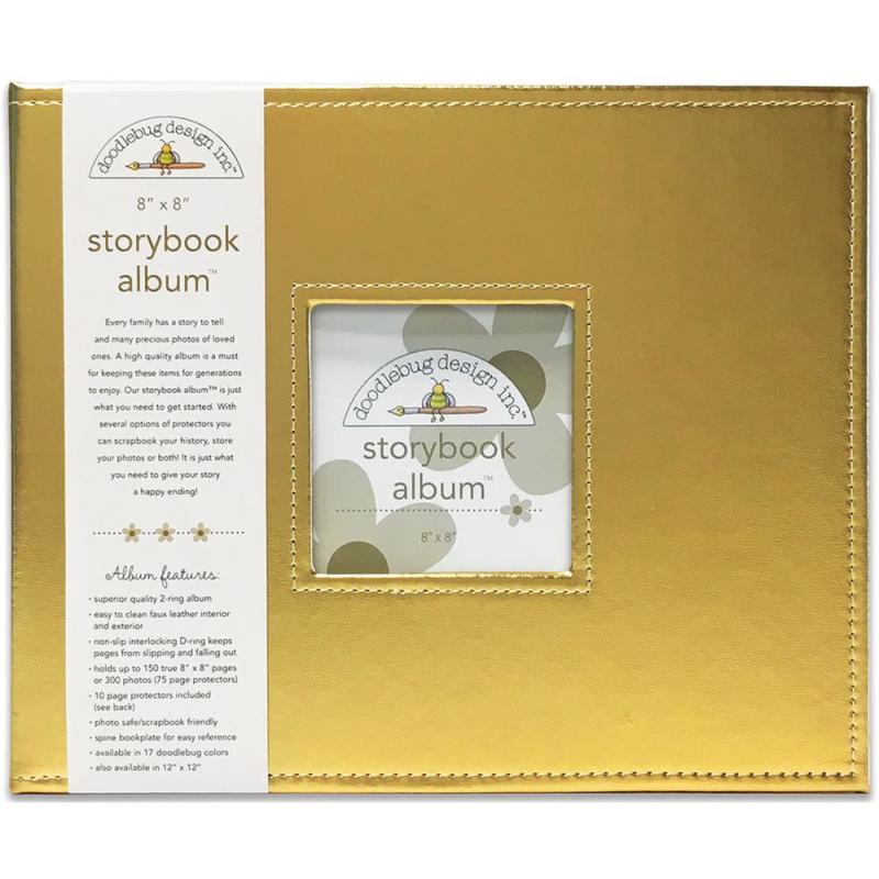 "0952089 Doodlebug Storybook Album Gold 8""X8"""