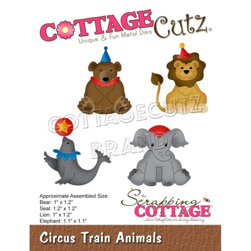 """CC862 CottageCutz Dies Circus Train Animals 1"""" To 1.2"""""""