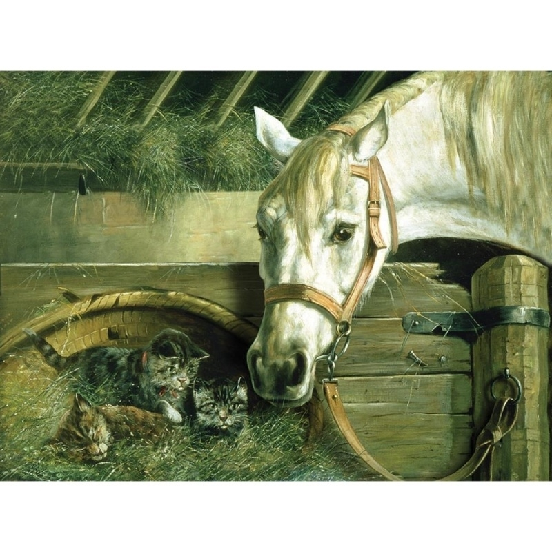"""134785 Paint By Number Artist`s Collection 12""""X16"""" Horse And Kitten"""