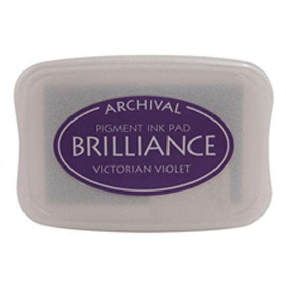 BR1-17 Brilliance ink pad victorian violet