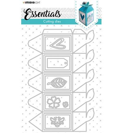 STENCILSL395 StudioLight SL Cutting Die Giftbox Hexagon Essentials nr.395