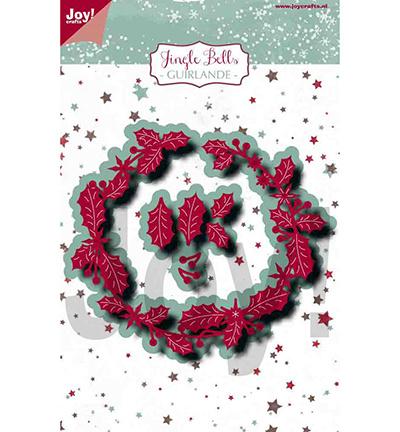 6002/1231 Cutting & embossing Jingle Bells Guirlande krans