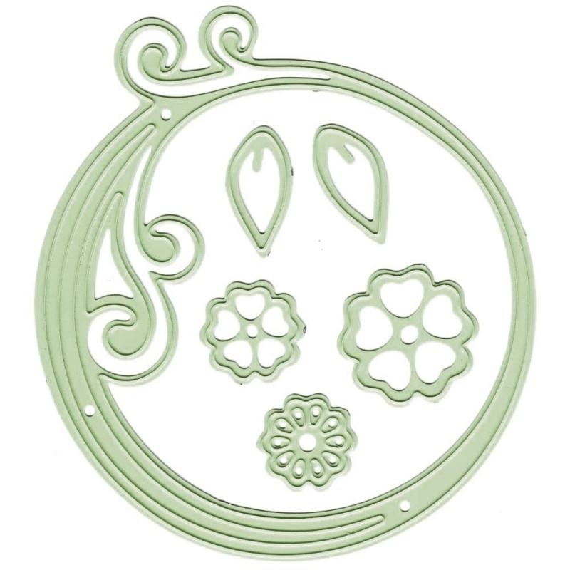 457674 Lea`bilities Cut & Emboss Dies Circle Swirl