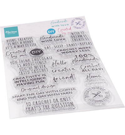 CS1072 Marianne Design Clear Stamps Crafting sentiments