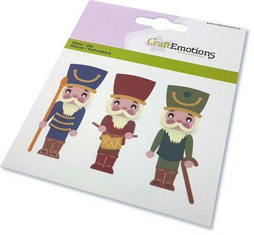 115633/0833 CraftEmotions Die kerst notenkraker soldaat Card 11x9cm - 82 mm