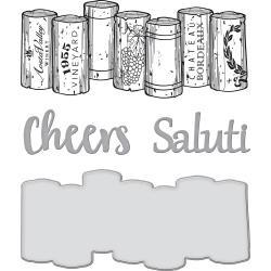 SDS132 Spellbinders Stamp & Die Set Wine Corks