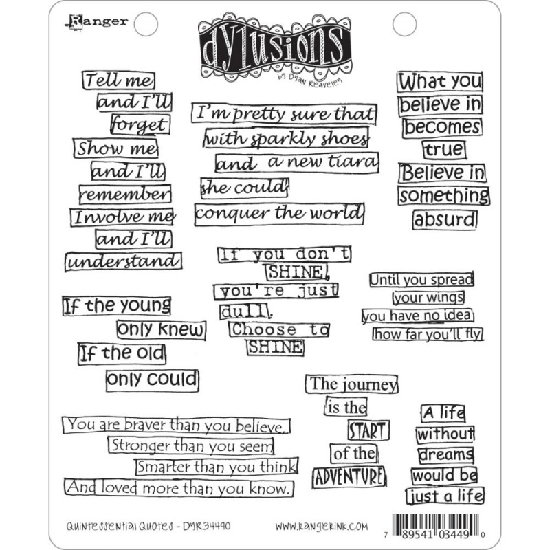 222420 Dyan Reaveley`s Dylusions Cling Stamp Collection Quintessential Quotes