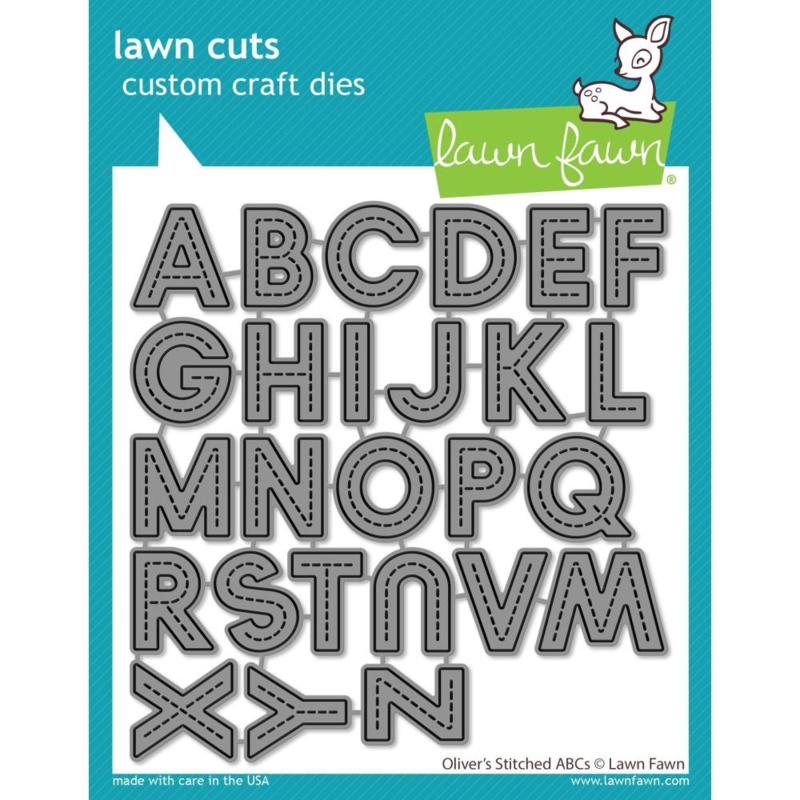 LF2261 Lawn Cuts Custom Craft Die Oliver's Stitched ABC's