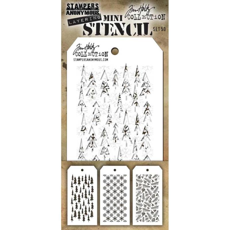 MTS 50 Tim Holtz Mini Layered Stencil Set #50