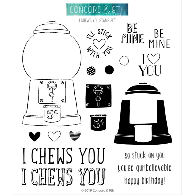 "619045 Concord & 9th Clear Stamps I Chews You 6""X6"""