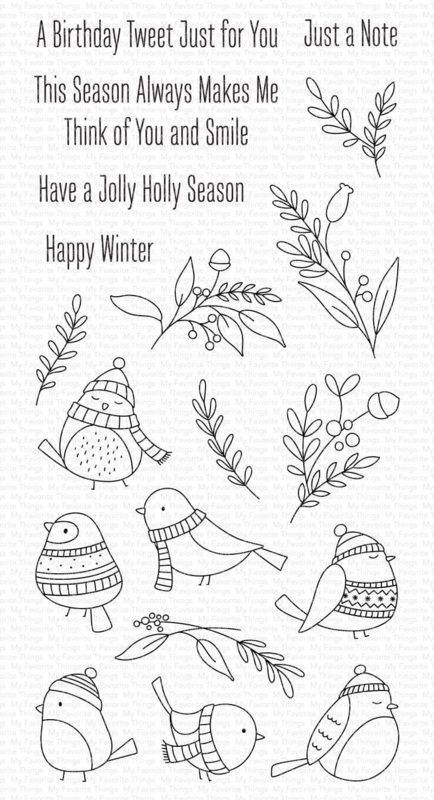 CS-520 My Favorite Things Winter Songbird Clear Stamps