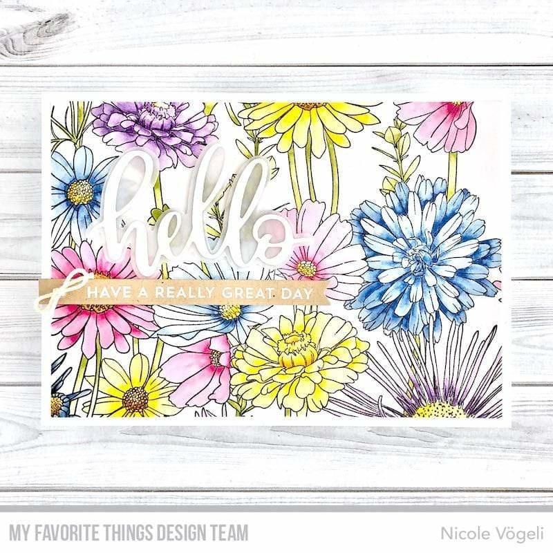 BG-126 My Favorite Things Harmonious Hibiscus Background Stamp