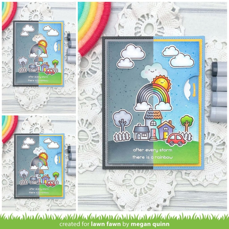LF2349 Lawn Fawn Reveal Wheel Puffy Cloud Add-On Dies