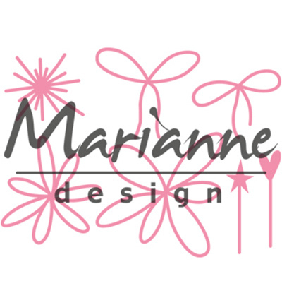 COL1441 Marianne Design Collectables Giftwrapping - Karin's pins & bows