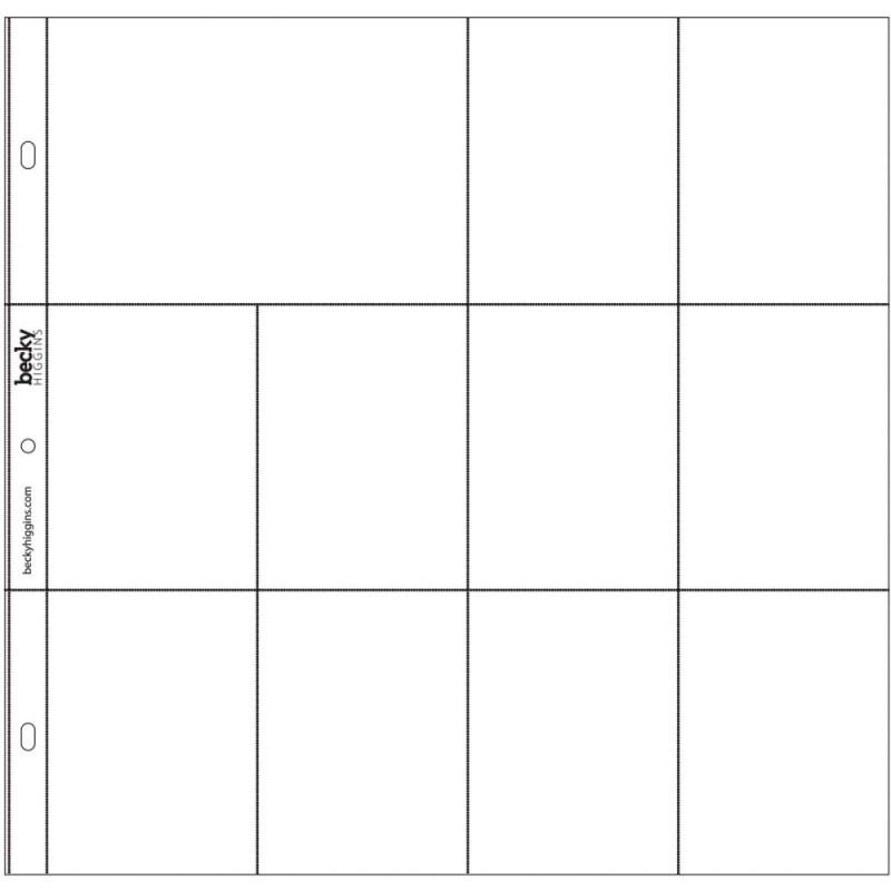 040154 Project Life Photo Pocket Pages 24/Pkg Design F