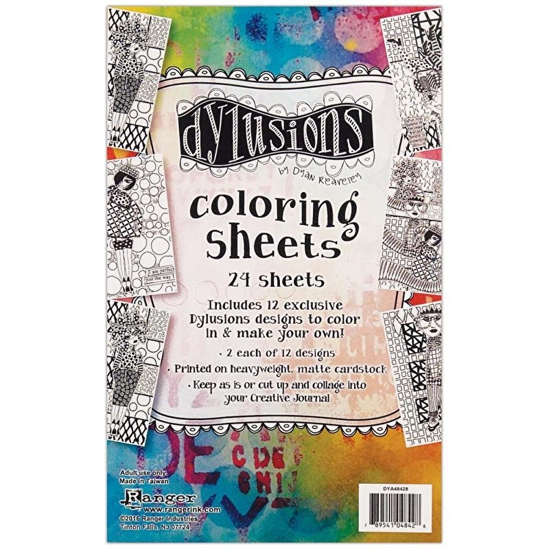 """263847 Dyan Reaveley's Dylusions Coloring Sheets 5""""X8"""""""