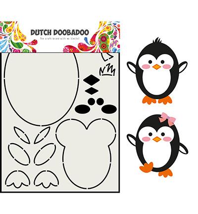 470.713.842 Dutch DooBaDoo Card Art Built up Pinguin