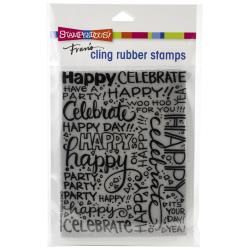 580553 Stampendous Cling Stamp Party Background
