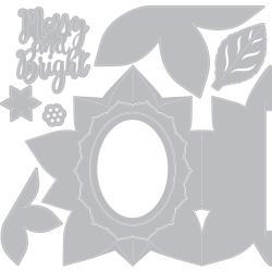 663174 Sizzix Thinlits Dies Sizzix Thinlits Dies Poinsettia Fold-A-Long Card By Jen Long 9/Pkg