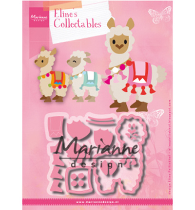 COL1470 Marianne Design Collectables Eline's Alpaca